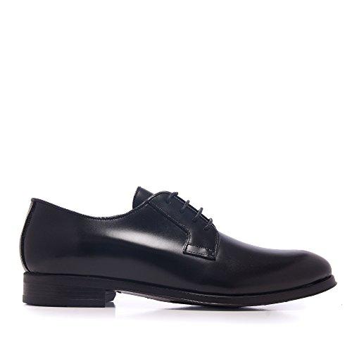Castellanísimos Zapato Hombre Negro Piel Estilo Blucher