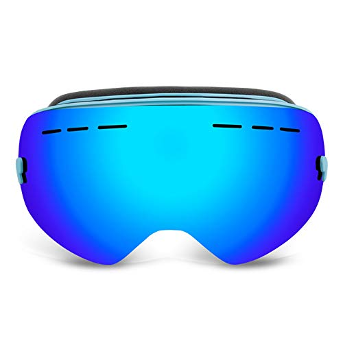 LOEROY Skibrille Snowboard Brille Doppel-Objektiv UV-Schutz Anti-Fog Skibrille Für Damen und...