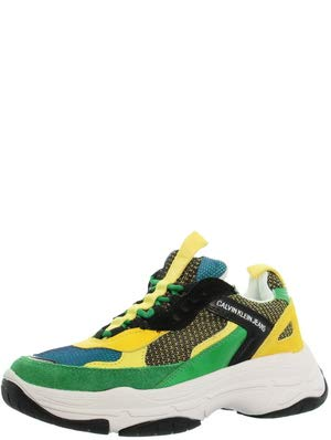 Calvin Klein Sneaker Maya Nylon Donna Mod. R7798 BLKGREENLEMON 36