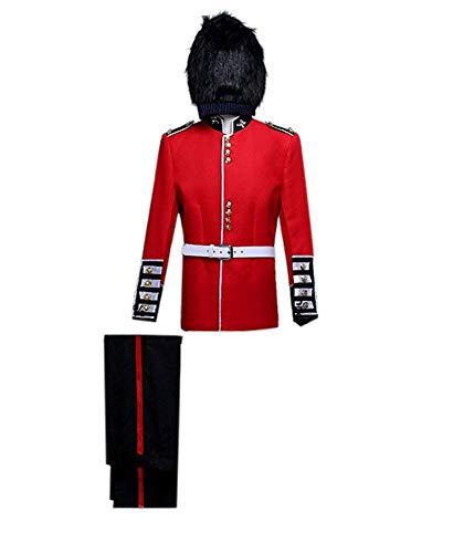 Soldat Kostüm Mittelalterliche - BellaPunk Herren königliche Garde Soldat Kostüm mittelalterlichen Kostüm Cosplay (Herren L, Voll)