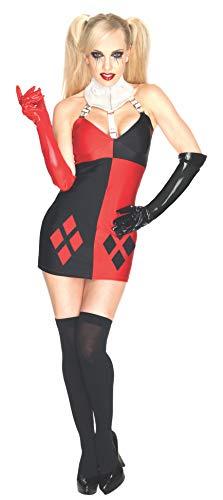 Damen Villain Harley Quinn Kleid, Erwachsenen-Kostüm-Medium ()