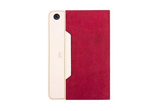 ALTO handgefertigt Premium italienischem Leder Wildleder Schutzhülle für Apple iPad Mini 2/3Furbo, H 20.8cm * W 14.3cm * D 1.5cm, rot -
