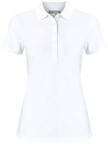 Callaway Micro Hex Polo, Golf, Damen S weiß -
