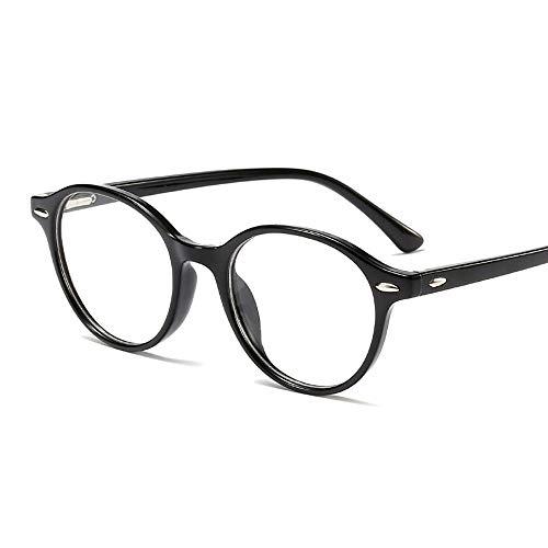 Gefälschte Nerd Brille Metall Runde Brillengestell, UnisexMens und Damen Brille (Farbe : Blue/Leopard)