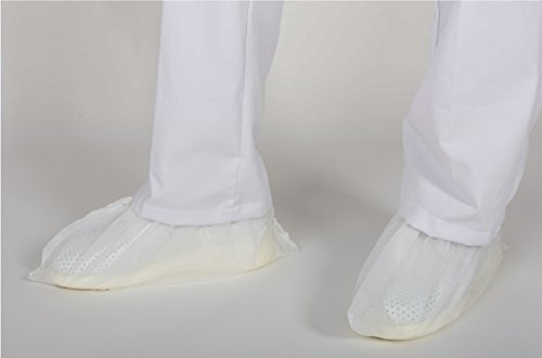 Medizinische 22021 Schuhabdeckung umfasst Schuhe Einweg Schutz für: Klinik - Labor - Stethyticien - Versorgung - Zahnärzte - Tierärzte - Krankenhäuser - Pack 100 UD. Weiß. 30 Gr