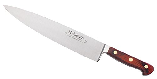 K Sabatier - Cuisine 26 Cm K Sabatier - Gamme Auvergne - Acier Inoxydable - Manche Bois - 100% Forge - Entièrement Fabrique En France