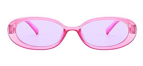KnSam Polarisierte UV400 Schutz Ultraleicht Rahmen Oval Damen Lila Sonnenbrillen Fahrerbrille