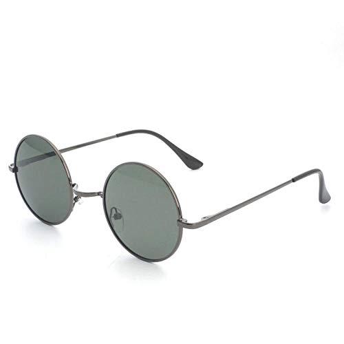 CYCY Trends runde Brille Prince Spiegel Männer und Frauen Flut polarisierten Gläsern Sonnenbrille runde Fassung kleine Sonnenbrille 2019-1234 Silberfassung schwarz grau, Waffenfassung grün -