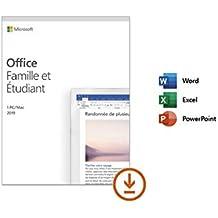 Microsoft Office Famille et Etudiant 2019 - 1 PC ou Mac - achat définitif | Téléchargement