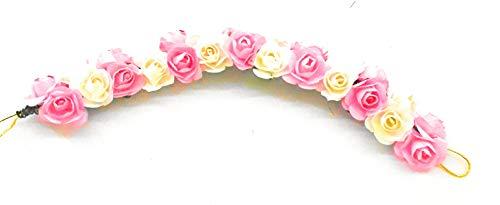 GiftsBouquet Smart Creations Multicolour Plastic Flower Gajra Hair Bun Juda Accessories for Women