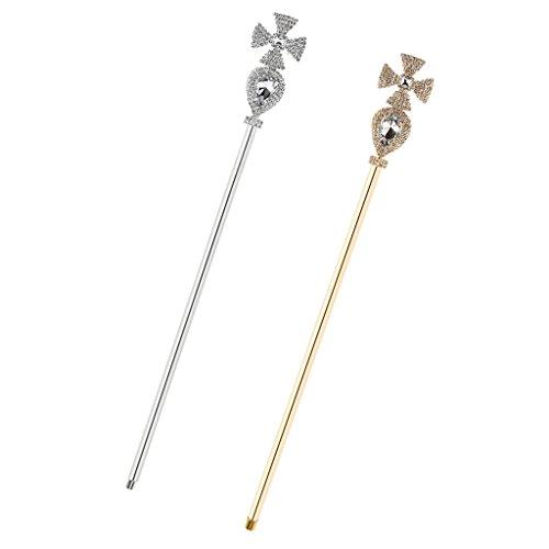 Kostüm Queen Crystal - Sharplace 2 Stü Fee Prinzessin Queen Kreuz Crystal Wands Magic Scepter Kostüm