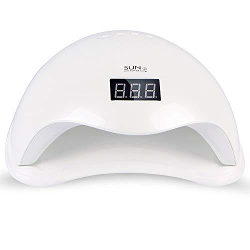 Roleadro Profesional - Lámpara UV y LED para uñas, secador de uñas con 4 temporizadores integrados y pantalla LED para manicura Shellac y en gel