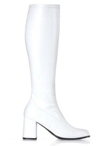 Weiße Plateaustiefel 60er-/70er-Jahre GoGo-Stiefel Größe 36-37 (60er Jahre Stiefel)