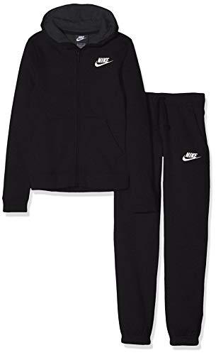 Nike b nsw trk bf core tuta, bambini, bambino, 939626, nero (nero/antracite/bianco), s