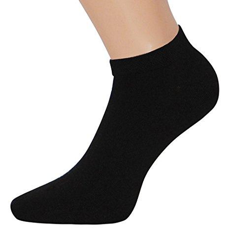 Damen Sneakersocken schwarz weiß Sneaker Socken Damen PRIME VERSAND KOSTENLOS, 1 Paar (35-38, 1 Paar schwarz Test)