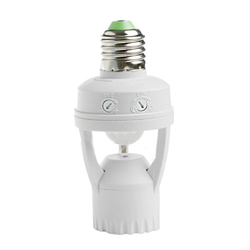 MagiDeal Porte-lumière de l'ampoule E27 EU Lampe Led Détecteur de Mouvement Infrarouge AC110V 220v
