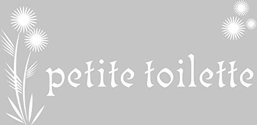 GRAZDesign 650158 Wandtattoo petite toilette | Bad-Fliesen mit Aufkleber im Badezimmer überkleben | Klodeckel/WC-Tattoo