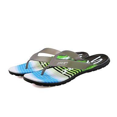 Slippers & amp da uomo;Comfort PU Estate Outdoor piatto Heel Blu Verde Rosso Sandali Walking sandali US9.5 / EU42 / UK8.5 / CN43