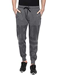 Proline Mens CMARL Slim Fit Lifestyle Jogger Pants with Text Print Detail