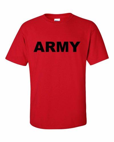 ARMY logo T-Shirt Rot