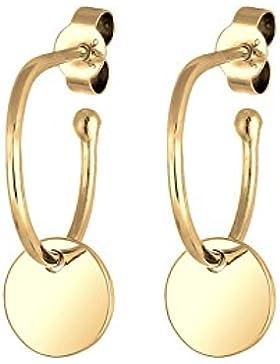 Elli Damen-Ohrhänger Geo Kreis 925 Silber vergoldet - 0301763017