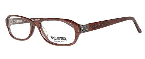 Harley Davidson Damen Brillengestelle Brille E-HDV-362-RST, Braun, 53
