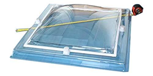 Lichtkuppel Megalux quadratisch Tageslicht Maß 60 x 60cm 2 Schalen Acryl-PMMA Klar