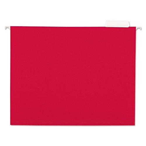 Hängemappen, 1, 11, 5 Punkt bestand, Tab, Letter, Rot, 25 Stück/Dose