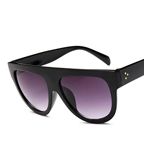 ZHOUYF Sonnenbrille Fahrerbrille Flache Oberseite, Super Große Quadratische Sonnenbrillen, Damensandwich, Klassische Sonnenbrillen Für Damen, Brillen Uv400, B