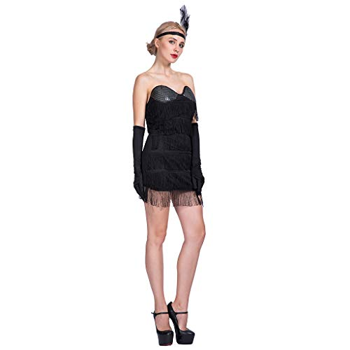 EraSpooky Damen 20er Jahre Kleider Gatsby Kleid Kostüm Flapper Cosplay Faschingskostüme Halloween Party Karneval Fastnacht Kleidung für - Sequin Flapper Kind Kostüm