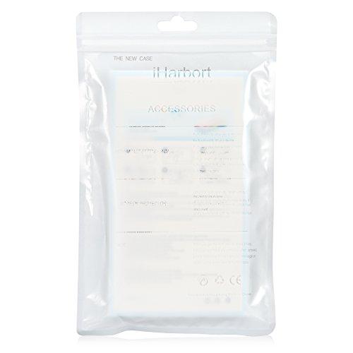 iPhone 6S Hülle - iHarbort® iPhone 6S (4.7 Zoll) Schutzhülle Case Cover Stoßstange-Abdeckung mit Stoßdämpfung Stoßstange und Antikratzer transparente Rückseite mit Displayschutzfolie (Transparent II) Schwarz