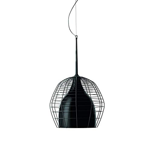 Diesel With Foscarini Cage Petite lampe suspendue avec diffuseur noire et cage noire