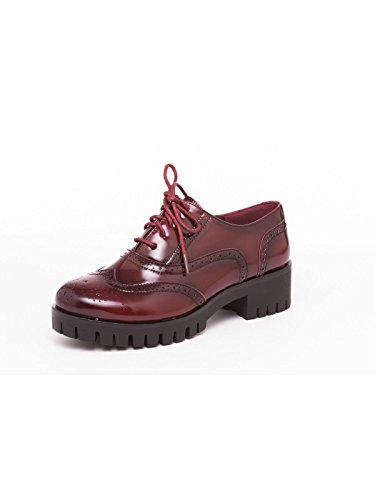 Queen Sophie Bordeaux, 37, Bordeaux - Scarpe Stringate Basse in eco pelle - Martina Gabriele shoes