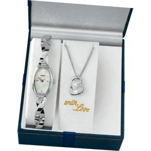 Sekonda Ladies' Silver Pendant and Watch Set (228375700) Best Price and Cheapest
