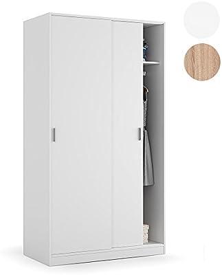 Habitdesign - Armario dos puertas correderas, medidas: 100 x 200 x 50 cm de fondo
