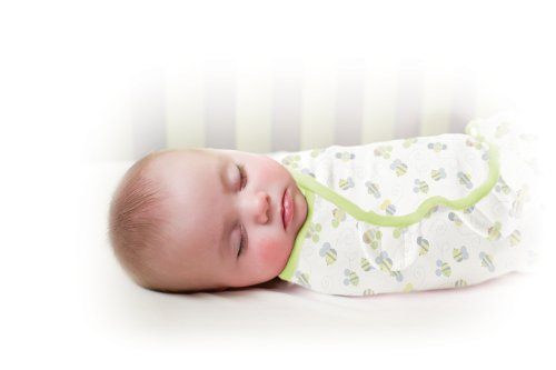 Summer Infant SwaddleMe Adjustable Infant Wrap, Busy Bees, 3 Count