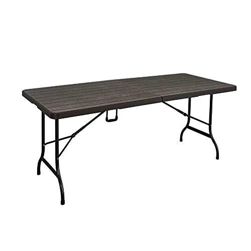 VIRAGE Table Pliante Imitation Bois Marron