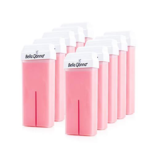 Sunzze Warm Wachspatrone Roll-On Rose breiter Roller, Waxing, Enthaarung, für die Haarentfernung im Achsel, Intim, Bein und Brustbereich, 10 Stück x 100ml