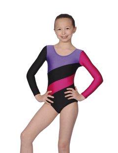 three-tone-gymnastics-or-dance-leotard-by-roch-valley-hop-7-8-years-black-purple-raspberry