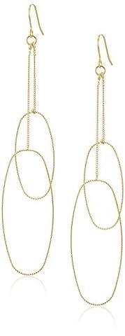 Panacea Diamond Cut Double Hoop Earrings
