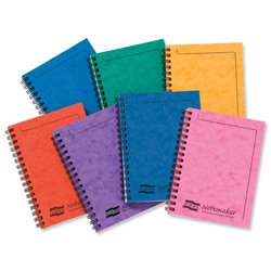 brand-new-europa-notemaker-book-sidebound-ruled-80gsm-120-pages-a6-assorted-a-ref-482-1138z-pack-10