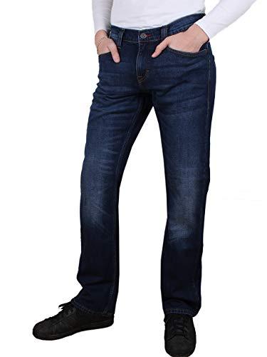 MUSTANG Herren Jeans Oregon - Bootcut - Blau - Denim Blue - Medium Blue - Mid Blue, Größe:W 32 L 34, Farbe:Mid Blue (1006280-882)