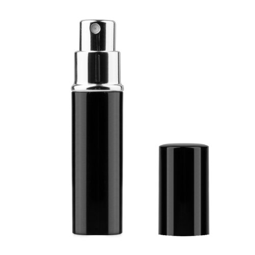 TRIXES Aftershave Atomiser 5ml Travel Perfume Easy Fill Spray Bottle Black Test