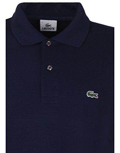 Lacoste Herren Polo-Classic Herren Premium Polo Shirt–Marineblau Navy