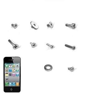 wortek Schrauben Reparatur Set für Apple iPhone 4 / 4S komplett Set aus 39 Schrauben