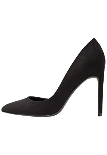 Even&Odd High Heel Pumps - Elegante Damenpumps in Wildleder Optik - Absatzschuh in Schwarz, Größe 36