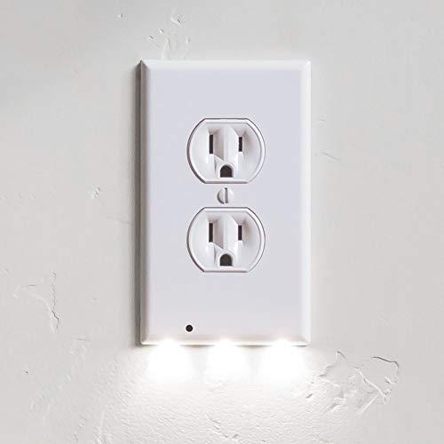 Lite-duplex-led (Plug Cover Night Light Built-in Light Sensor Us Plug Wall Snap Power Duplex Outlet Wall Plate Mit Led-nachtbeleuchtung Für Badezimmer)