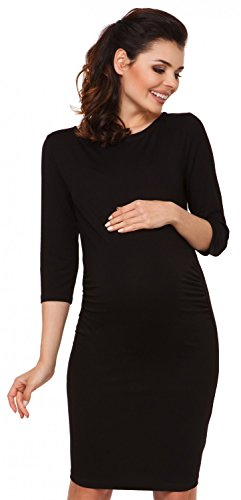 zeta-ville-maternity-abito-prmaman-vestito-aderente-collo-alto-donna-063c-nero-it-46-xl