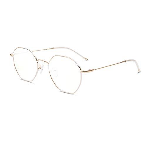 Blaulicht Schutzbrille Blaues Licht, das Gläser blockiert Strahlenschutz-Gläser weiblicher Augenschutz-Persönlichkeit Blu-ray-Computer-Gläser ZHAOSHUNLI (Farbe : Apple Gold)