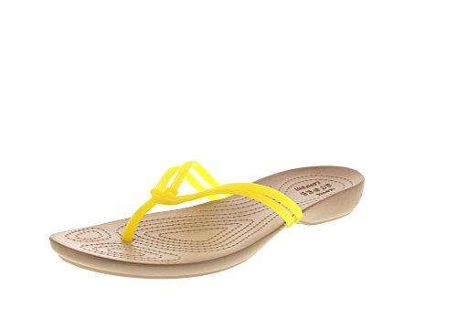 Crocs Isabella, Tongs Femme Lemon/Gold